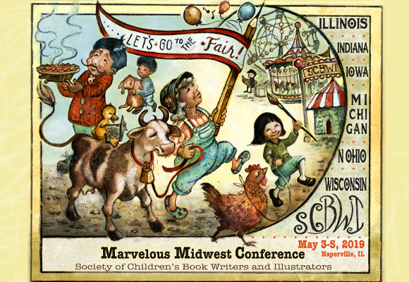 "CLICK HERE FOR OFFICIAL EVENT INFORMATION AND REGISTRATION.   Wisconsin Diversity Committee is offering a scholarship to the Marvelous Midwest Conference. Please click HERE for more information.   To access Rideshare info for this event please click HERE.    The 2019 Marvelous Midwest Conference ""Let's Go to the Fair!"" will be held May 3-5, 2019 at the conference center of the Chicago Marriott Naperville, in Naperville, Illinois. Location: Chicago Marriott Naperville 1801 N. Naper Blvd. – Naperville, IL 60563 Hosted by six SCBWI regions: * INDIANA * IOWA * MICHIGAN * OHIO NORTH * WISCONSIN * [caption id="