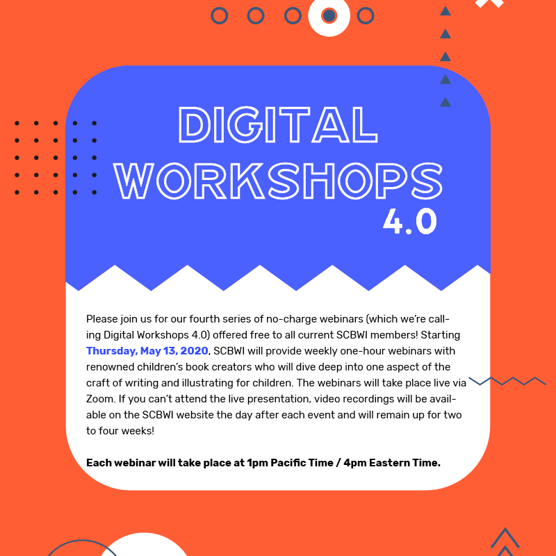 """Graphic says """"Digital Workshops 4.0"""" and links out to the webpage with details of the webinars."""