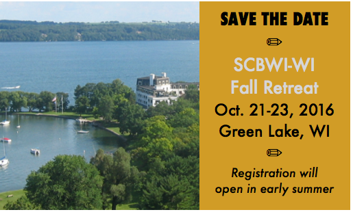 REGISTRATION NOW OPEN! CLICK HERE TO GO TO REGISTRATION PAGE. The news you've all been waiting for is HERE – our faculty lineup for the 25th Anniversary of our SCBWI Fall Retreat – October 21-23 in Green Lake, WI!   We are bringing in eight editors, agents, or art directors: Beth Terrill (North-South Books) Kelsey Murphy (HarperCollins) Bonnie Bader (Grosset & Dunlap/Penguin, national SCBWI PAL coordinator) Danielle Smith (Red Fox Literary) Lauren Rille (Simon & Schuster) Phillip Martin (Crickhollow Books) Mary Ann Rivers & Ruthie Knox (Brain Mill Press)   In addition, we've snagged 16 award-winning author and/or illustrator presenters, which include: Varian Johnson Jennifer Swanson Vanessa Brantley Newton Lisa Moser Dori Chaconas Kym Brunner Angie Stanton Bridget Birdsall Stacy DeKeyser Nick Patton Ann Bausum JoAnn Early Macken Sandy Brehl   But wait! There's more!   The conference member early-bird price is set at $235, which is a savings over previous years. (Nonmembers $275-$300). And yet, we're including all meals from Friday dinner through Sunday lunch, plus offering additional programming!   Optional Friday Intensives, 10 a.m. – 2 p.m. – cost is only $15 (includes lunch, choose only one) PAL Day, a series of presentations and roundtables geared for published PAL members (or those under contract for 2017-2018). Write-In, in which you'll actually get writing done! Plus, learn from your peers during breaks.   Extended Sunday Program, 12 – 4 pm – FREE – everyone welcome! Stay for lunch and then join us for a presentation and panel discussion on what it's like working with smaller presses, boutique agencies, and indie publishing. There will also be a showcase opportunity for members who've recently had an indie or small press book published. Additional faculty panelists are listed on the RegOnline official registration site/form.   And one more thing!   This year, we'll be offering the chance to purchase multiple/additional critiques, as we've received feedback from our prolific writers, many of whom work across genres/categories. You can purchase up to three extras. Great for writers with multiple manuscripts!   Nuts and Bolts Conference registration IS NOW OPEN. We will have an online registration option as well as the paper mail-in option. We have a block of hotel rooms reserved at a rate of $89/night (no extra tax or fees!). Rooms in the Roger Williams Inn, the location of all conference keynotes and breakouts, include singles, doubles, triples, and some that sleep four. Please call the Green Lake Conference Center at 920-294-3323 before August 19 and mention you're with the SCBWI Writing Retreat to receive the discounted rate and select your room type. We recommend reserving your hotel rooms early. You can reserve your hotel room today if you want to!   To those with food allergies/dietary preferences: All meals will be served from the sprawling hot buffet and salad bar, which will have multiple entree and side dish choices for each meal. There is also a dessert and ice cream bar! Vegetarian, vegan and gluten-free diets will be accommodated with options, but please register any specific dietary needs on this form here: http://glcc.org/special-diet-request.html   We'll continue to provide updates, all of which will be posted on wisconsin.scbwi.org and on the listserv. If you would like to volunteer to drive our faculty (time in the car with an editor or agent) from Milwaukee or Appleton, or help out in another way, please email us at wisconsin-ra@scbwi.org. That's also the address where you can direct any questions for now.   We are very excited at this large, experienced faculty with a wide variety of topics to share! And to be able to gather in such a scenic location, which is sure to provide ample inspiration. Please continue to watch your email, the listserv, Facebook page, and website for announcements. See you at the Lake!   Our best, Andrea Skyberg and Miranda Paul, co-Regional Advisors SCBWI-Wisconsin wisconsin-ra@scbwi.org